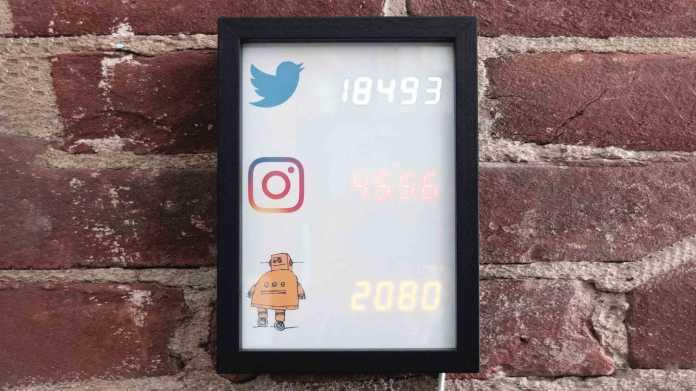 Followerzähler für Instagram und Co