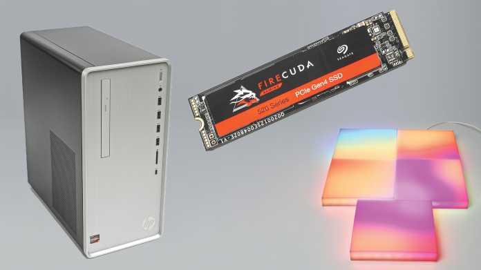 HP Pavilion mit Ryzen-CPU, PCIe-4.0-SSD Seagate Firecuda 520 und LIFX Tile Kit