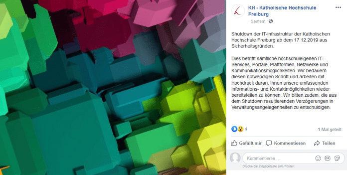 Shutdown der IT-Infrastruktur: Emotet befällt Katholische Hochschule Freiburg