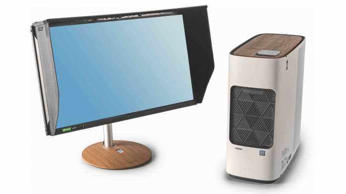 Acers Design-Workstation ConceptD 500 und Monitor ConceptD CP7271KP