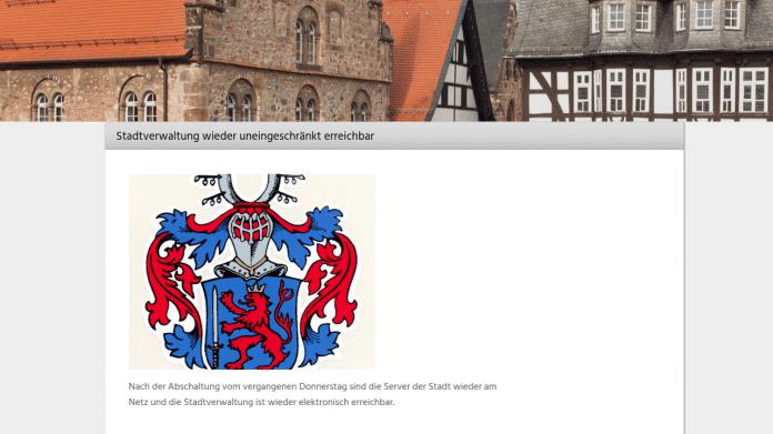 Alsfelder Stadtverwaltung nach Erpressungsversuch wieder am Netz