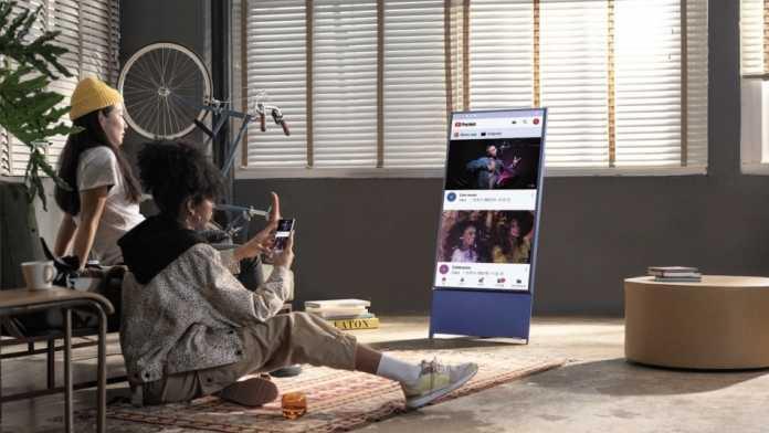 Hochkant-Fernseher mit AirPlay 2