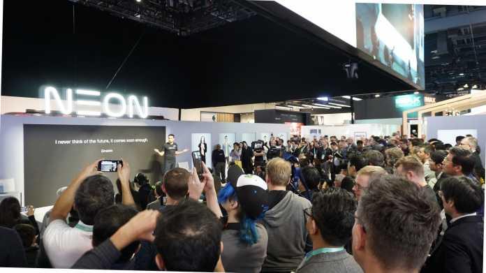 Die Pressekonferenz von Neon war gut besucht.