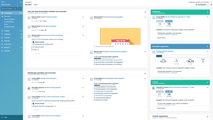 Projektmanagementsoftware factro jetzt mit Newsfeedfunktion