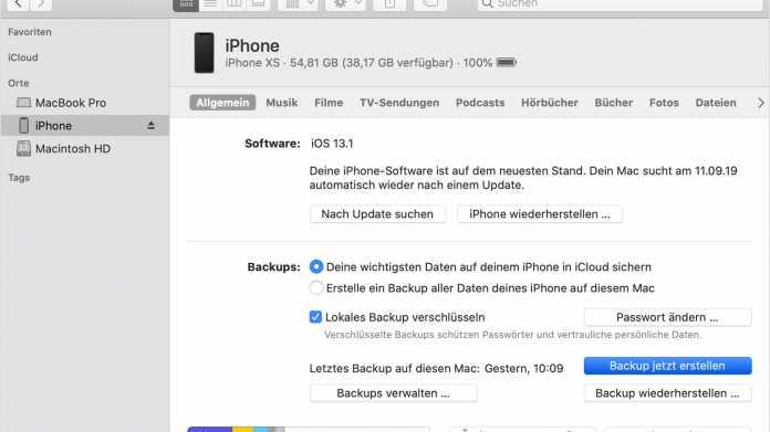 iCloud-Backup: Nur lokal echt sicher