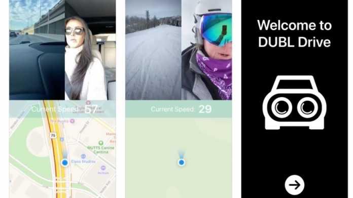 Neue iPhone-Dashcam-App kombiniert beide Kameras