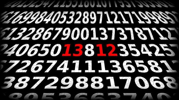 Zahlen, bitte: 13 oder 12? Ein Rätsel gewinnt die Wahl