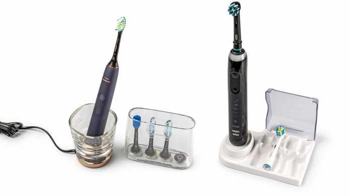 Intelligente Zahnbürsten: Oral-B Genius X 20000N vs. Philips Sonicare DiamondClean Smart