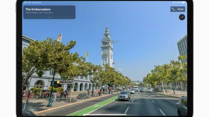 Apple baut Karten-App um