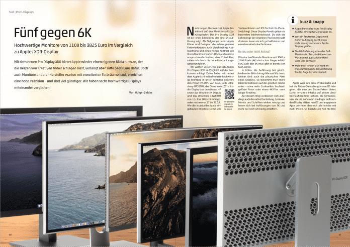 Fünf hochwertige Profimonitore im Vergleich mit Apples Pro Display XDR