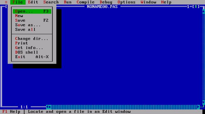 Turbo Pascal [--] der blaue Editorbildschirm dürfte einigen bekannt sein ...