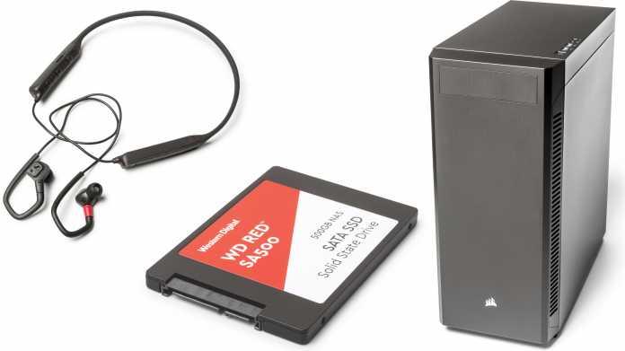 Kurztests: Bluetooth-Kopfhörer, SSD fürs NAS und PC-Midi-Tower