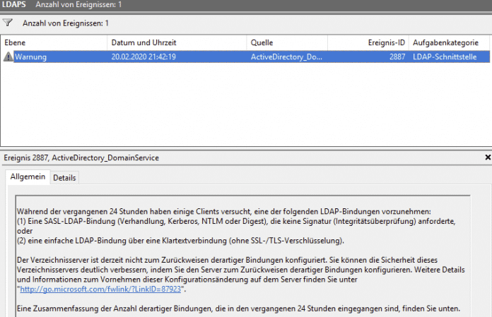 Microsoft stellt Domaincontroller langsam auf LDAPS um