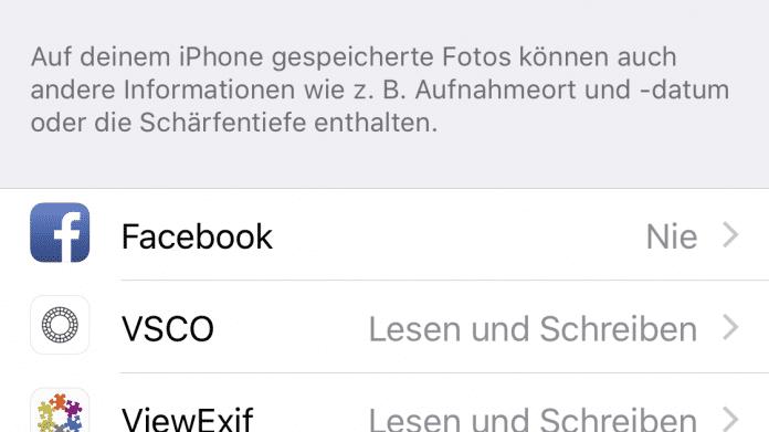 Datenschutz iOS