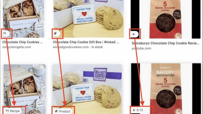 Google führt erklärende Icons in der Bildersuche ein