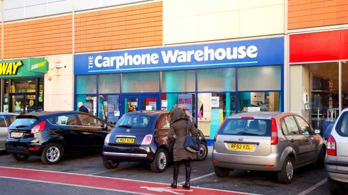 Carphone Warehouse schließt alle britischen Shops