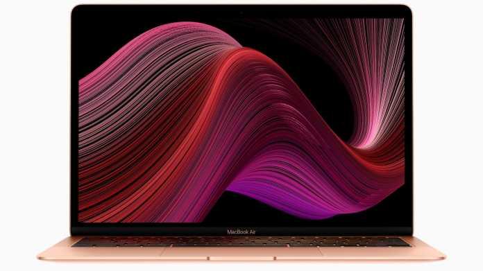 Apples MacBook Air 2020 mit Sonder-Prozessoren von Intel