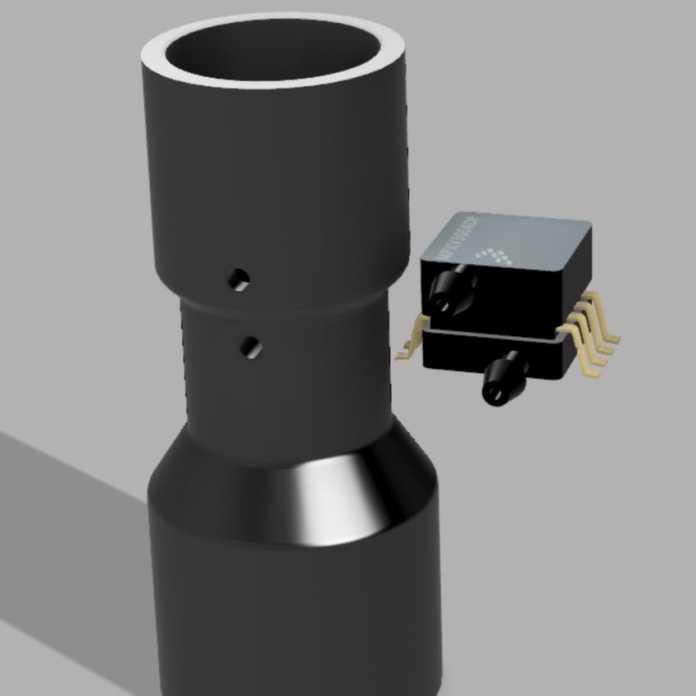 Erster Prototyp für den Luftmengensensor