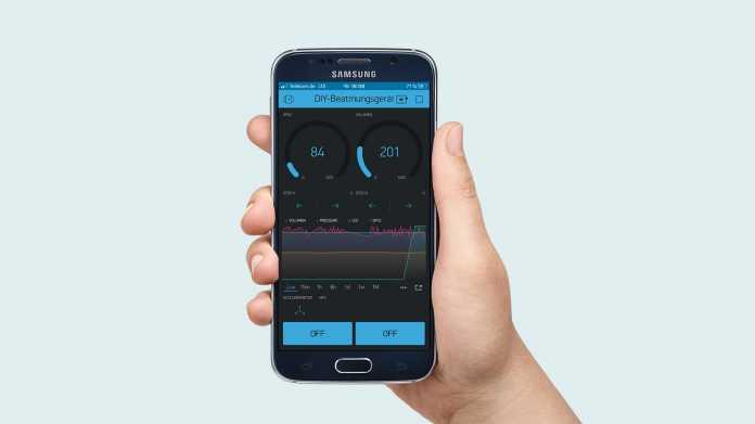 Erster Entwurf – Bedieninterface auf dem Smartphone