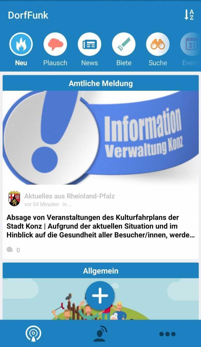 Dorf-App für ganz Rheinland-Pfalz