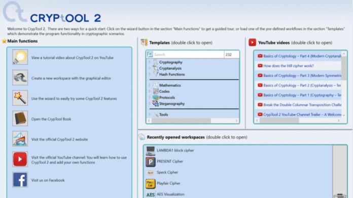 Für angehende Verschlüsselungsexperten: E-Learning-Software CrypTool 2 ist da