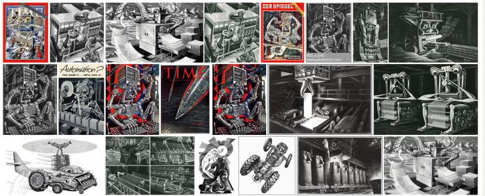 Die glubschäugigen Maschinen von Boris Artzybasheff.