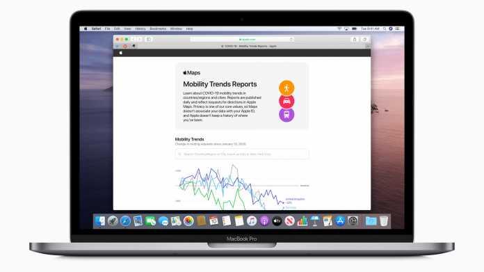 COVID-19: Apple stellt Bewegungsdaten zur Verfügung