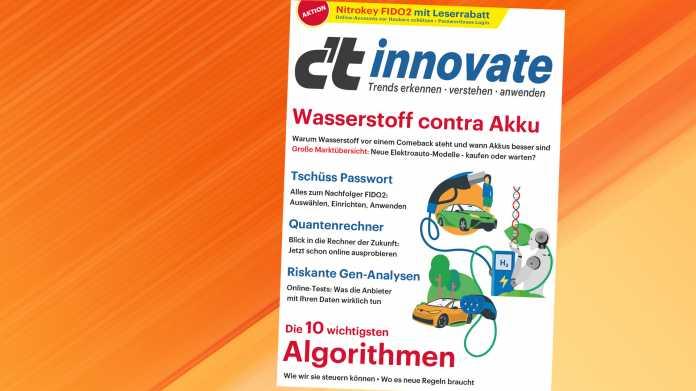 Sonderheft c't innovate jetzt vorbestellen