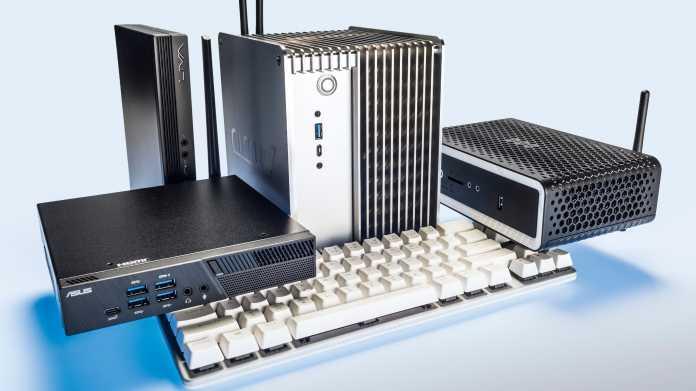 Vier Mini-PCs mit AMD-Ryzen-Prozessor