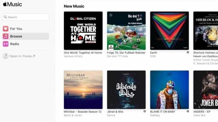Apple Music im Web ist fertig