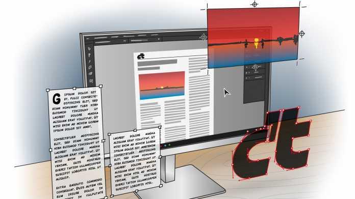 Softwarepakete für Bildbearbeitung, Illustration und Schriftsatz
