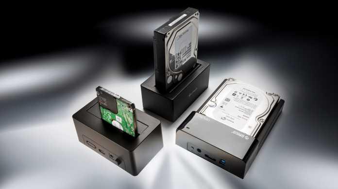 USB-Dockingstationen für Festplatten und SSDs