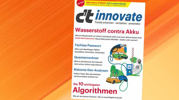 Jetzt erhältlich: c't Sonderheft innovate