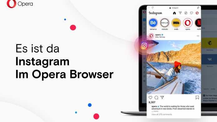 Browser Opera integriert Instagram