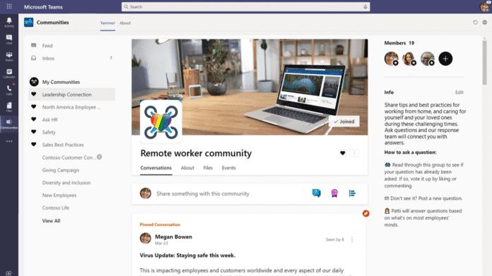 Yammer für Teams auf dem Desktop, aktualisierte Apps für iOS und Android