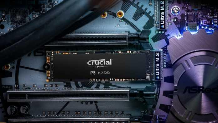 Crucial stellt seine schnellste PCI-Express-SSD P5 vor