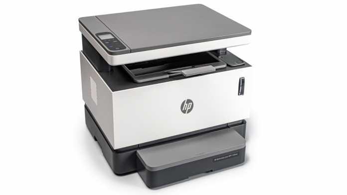 Schwarz-Weiß-Laserdrucker mit nachfüllbarem Tonerbehälter