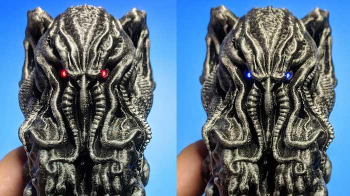 Der Türhüter: Cthulhu-Statue mit ESP32-Herz erkennt Gesichter