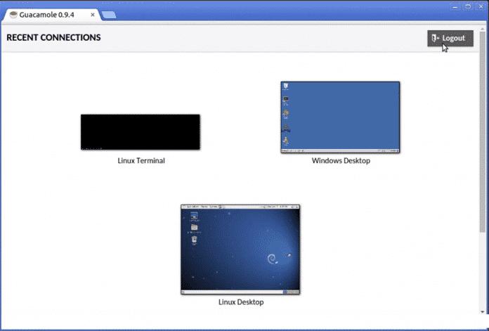 Guacamole setzt auf HTML5 und fungiert als Gateway für RDP, VNC und SSH im Browser