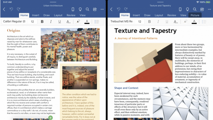 Microsoft Office für iPad erhält Multi-Window-Support