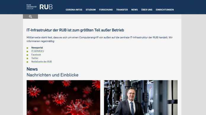 Ruhr-Universität Bochum: Hackerangriff legt Teile der IT-Infrastruktur lahm