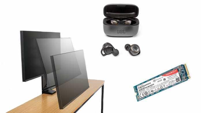 Kurztests: Büromonitor, NAS-SSD und ein In-Ear-Headset mit Bluetooth