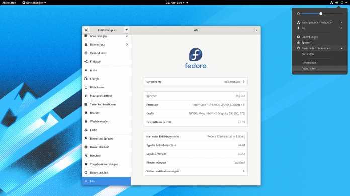 Fedora 32: Frisches Gnome und Detailpflege