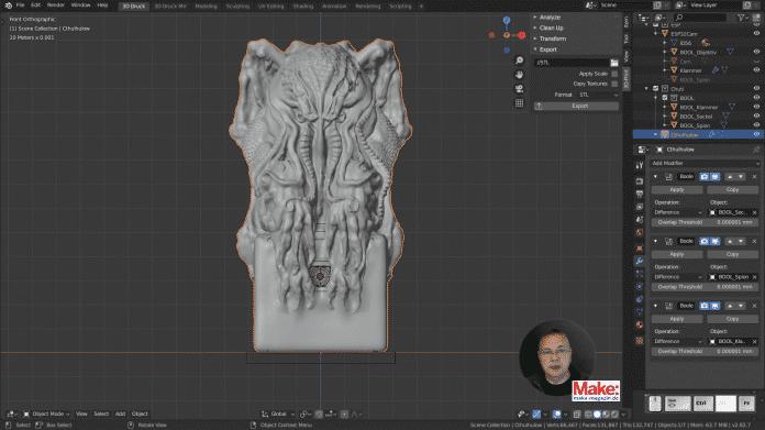 Neue Folge beim 3D-Kurs für Maker: Konstruieren mit Blender 2.8