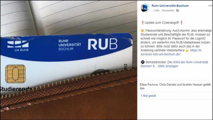 Ransomware-Infektion: Ruhr-Universiät Bochum ruft zur Passwortänderung auf