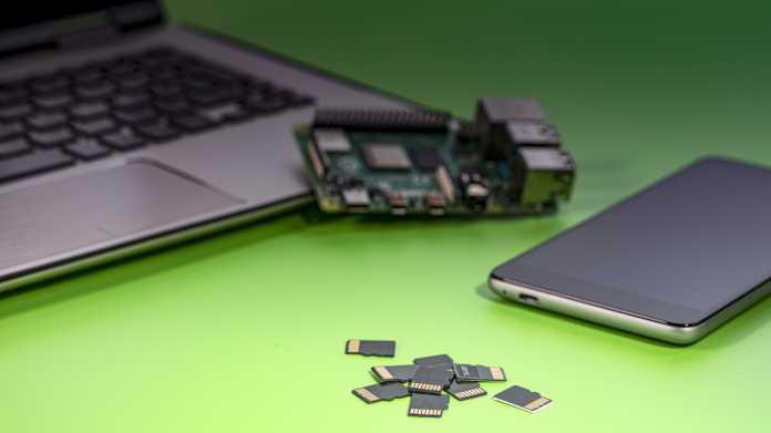 MicroSD-Karten für Raspi und Smartphone mit 32 und 512 GByte