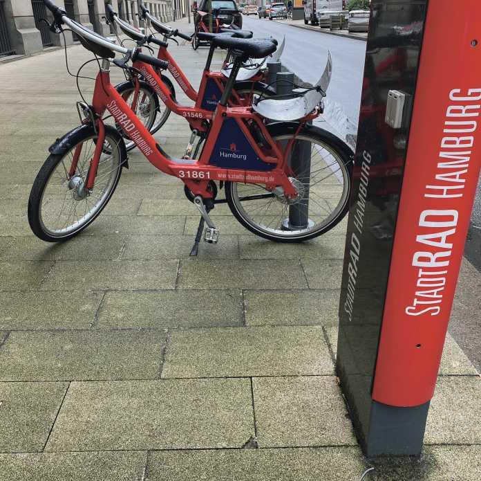 Die von Call a Bike betriebenen Räder haben Sättel mit Schnellverstellung, 7 Gänge und Scheibenbremsen.