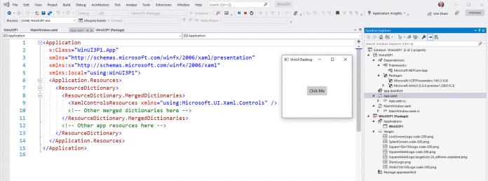 Ein WinUI3-Anwendungsprojekt auf Basis der klassischen Win32-API