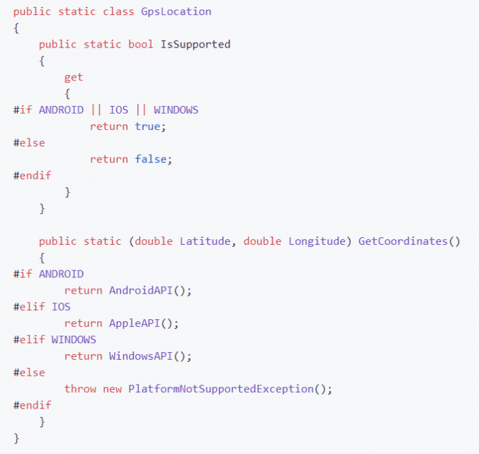 Plattformspezifischer Programmcode in .NET 5.0/6.0