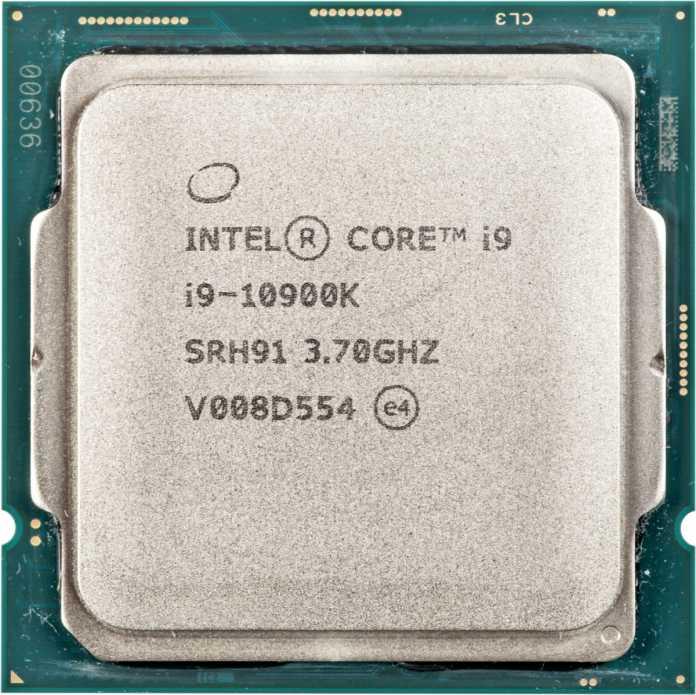 Unter Volllast darf die 125-Watt-CPU Core i9-10900K kurzzeitig bis zu 250 Watt schlucken.